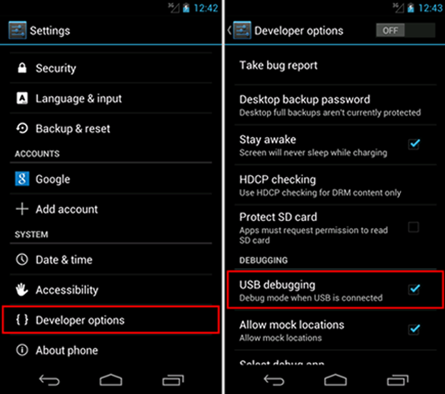 How to Enable USB Debugging on Android Phones According to