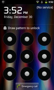 Android screen lock pattern