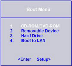 How to Set Computer Boot from CD/DVD-ROM via BOOT Menu or BIOS