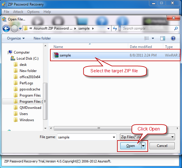 asunsoft zip password recovery free download