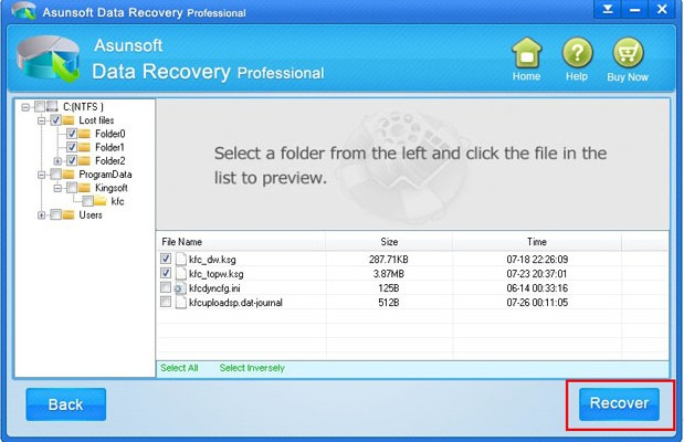 recover fromatted data