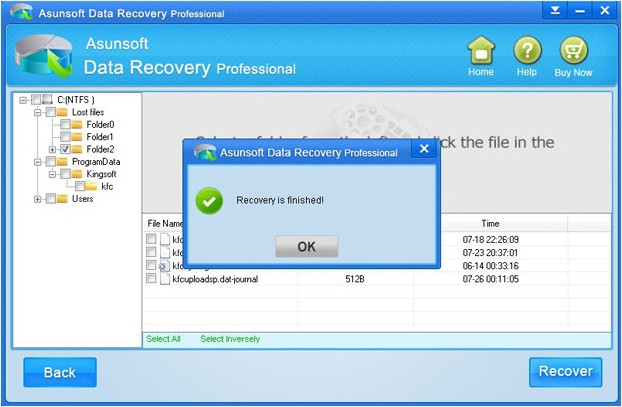 data recovery finish