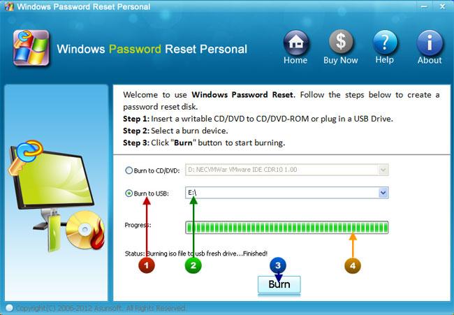 asunsoft windows 7 password reset full version crack