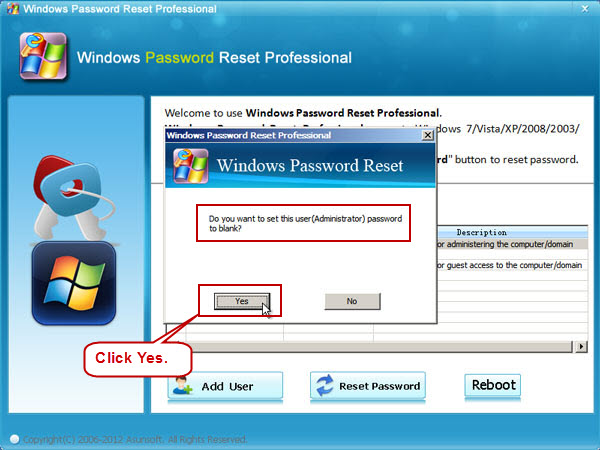 how to remove password windows vista