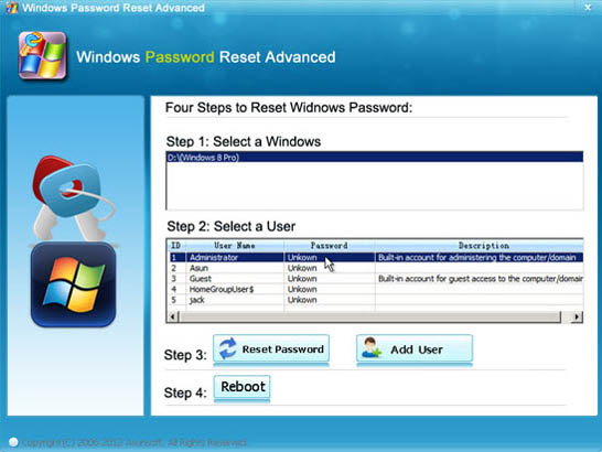 how to reset a laptop that has a password