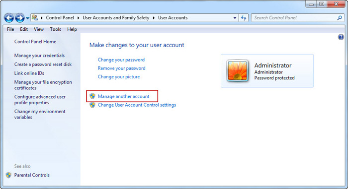 how to reset system administrator password windows 8.1