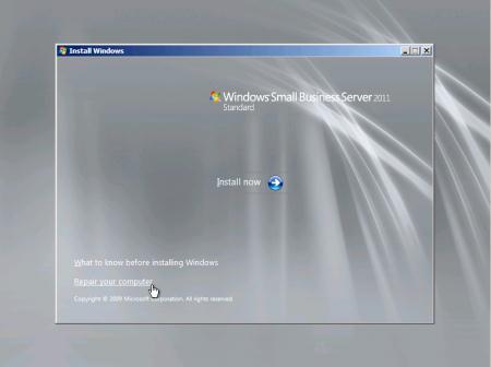 windows server 2012 password reset disk