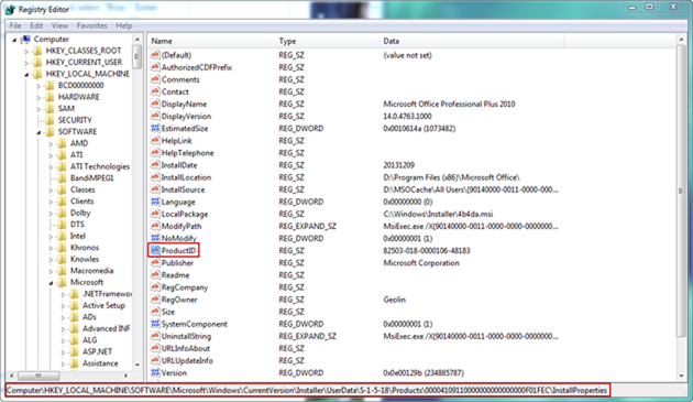 how to find windows product key in registry