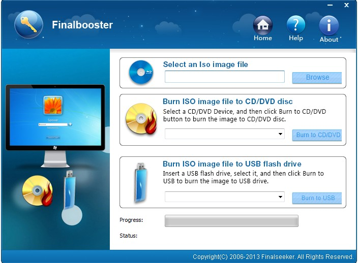 Finalbooster - Windows 7/8 USB install Tool
