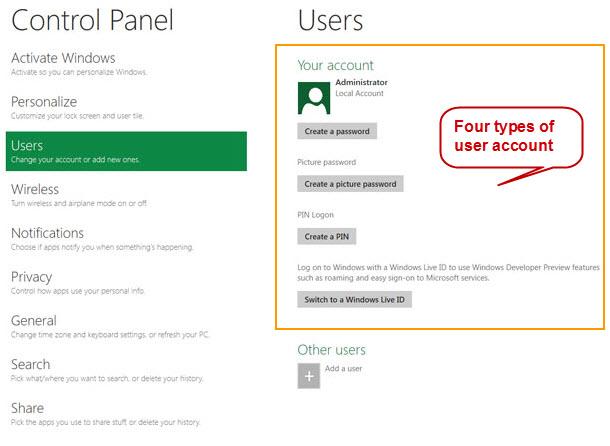 remove windows password windows 8