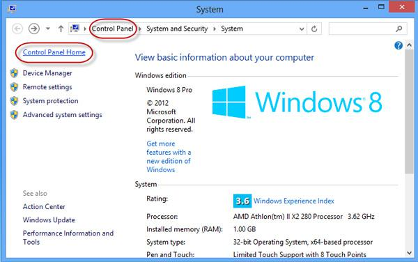 how to find control panel in windows 8 for windows 8 beginners