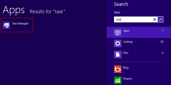 How to Open Task Manager on Windows 8