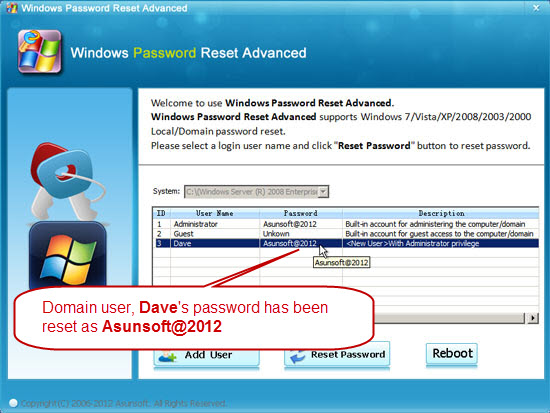 Asunsoft Windows Password Reset Advanced Crack Free Download