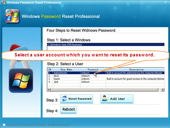 windows vista bypass administrator password